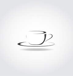 Cup Black Icon vector image