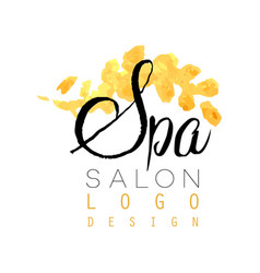 Delicate spa logo original design feminine label vector