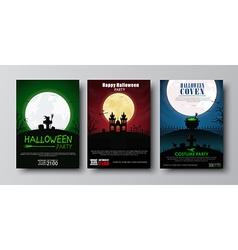 Design posters halloween party vector