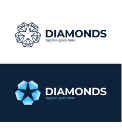diamond star logo jewelry logo jewel luster logo vector image