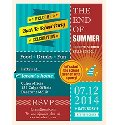End summer party poster or card design template vector