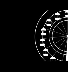 ferris wheel on a black background vector image