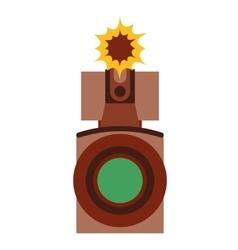 film movie camera icon vector image