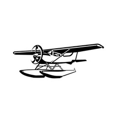 flying boat boat airplane aviation isolated vector image