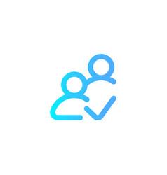 follower icon sign symbol vector image