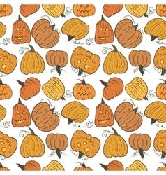 Funny Pumpkin Pattern vector image