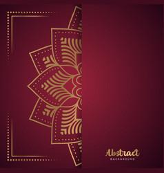 gold background with mandala vector image