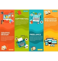 Graphic design copywriting responsive webdesign vector