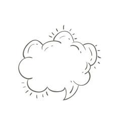 Gray hand drawn speech in shape of cloud vector