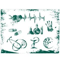 Grunge Medicine Tools vector image vector image