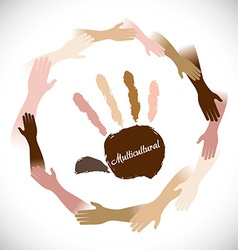 Hand sign design vector image