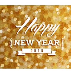 Happy new year 2016 blur lights background vector image