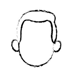 Head faceless man character sketch vector