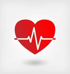 Heart cardiogram symbol vector