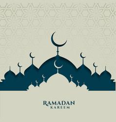 Islamic festival card for ramadan kareem season vector