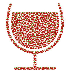 juice glass collage of tomato vector image
