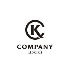 kc ck initials monogram letters logo vector image