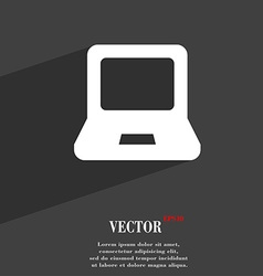 Laptop icon symbol Flat modern web design with vector image