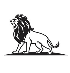 Lion logo template vector