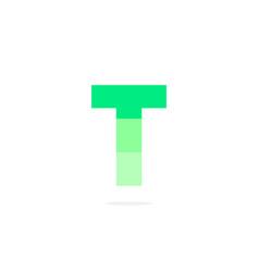 logo letter t green energy battery vector image