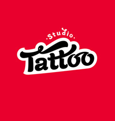 logo tattoo studio image vector image