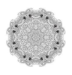 mandala eastern pattern zentangl round ornament vector image