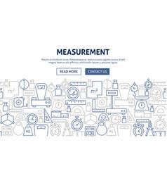 Measurement banner design vector