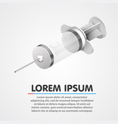 medical empty and clean syringe clean vector image