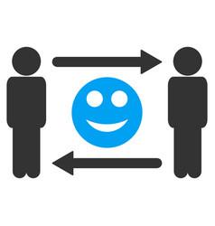 men smile exchange icon vector image