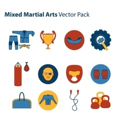 Mix Martial Arts Icons Set vector