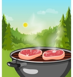 Outdoor Barbecue Concept vector