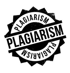 Plagiarism rubber stamp vector