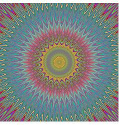 Psychedelic mandala explosion fractal background vector