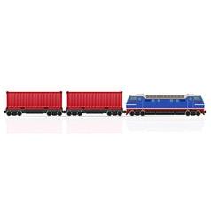 Railway train 12 vector