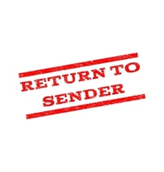 Return To Sender Watermark Stamp vector