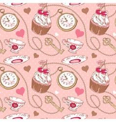 Romantic love vintage pattern vector