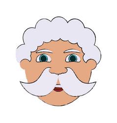 santa claus cartoon icon image vector image