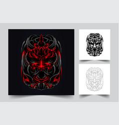 satan samurai artwork vector image