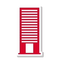 silhouette with office building in red vector image