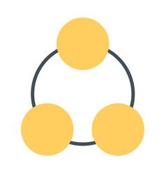 social network icon symbol vector image