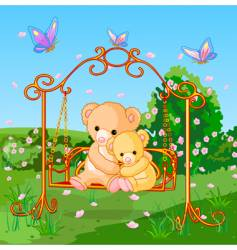 spring bears vector image