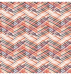 Striped chevron vintage pattern vector