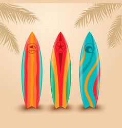 Surf boards with different design vector
