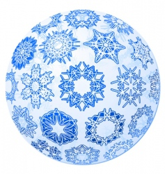 transparent Christmas ball with snowflakes vector image