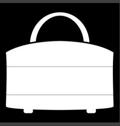 Woman bag icon vector