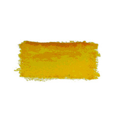 yellow watercolor smear brush strokes vector image