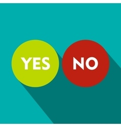 Yes and No icon flat style vector image