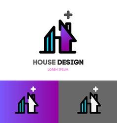 Abstract house logo design template Modern design vector image vector image