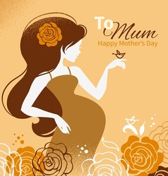 Beautiful pregnant woman vector image