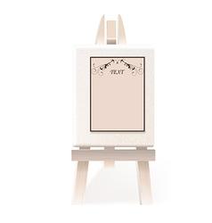 Easel paper vector